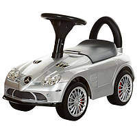 Машина для детей каталка толокар Mercedes серебристый покраска