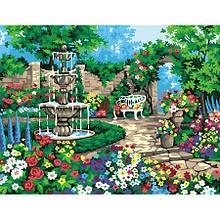 Картина по номерам Дворик с фонтаном