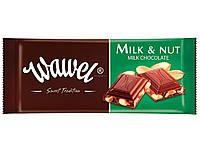 Шоколад Wawel Milk & Nut (молочный с орехом) 100 г. Польша