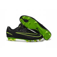 Мужские бутсы Nike Mercurial Vapor XI CR FG black green, фото 1