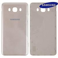 Задняя крышка батареи для Samsung Galaxy J7 2016 J710, золотистая, оригинал