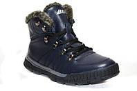 Зимние мужские спортивные ботинки из натуральной кожи на меху.