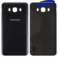 Задняя крышка батареи для Samsung Galaxy J7 2016 J710, черная, оригинал