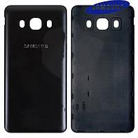 Задняя крышка батареи для Samsung Galaxy J5 (2016) J510, черная, оригинал