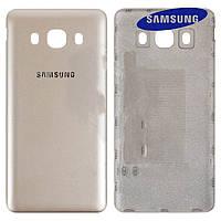 Задняя крышка батареи для Samsung Galaxy J5 (2016) J510, золотистая, оригинал