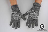 Шерстяные перчатки, серые перчатки, перчатки из ангорки, женские перчатки, мужские перчатки,