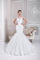 """Невероятное свадебное платье силуэта """"рыбка """",  украшенное чудесным кружевом"""