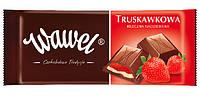 Шоколад Wawel  Truskawkowa (молочный с клубничной начинкой) 100 г. Польша
