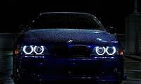 CCFL Ангельские глазки на BMW E36, E38, E39, Е46 (с линзой)  Белые