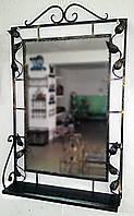 Зеркало в кованой раме с полкой , фото 1