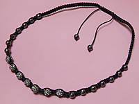 Ожерелье - бусы «Шамбала». Цвет сиреневый