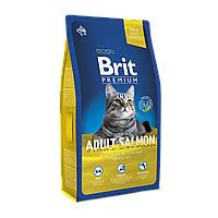 Brit Premium Cat Adult Salmon 8кг -корм для кошек с лососем (БЕСПЛАТНО НА ДОМ!)