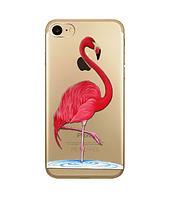 """Мягкий ультратонкий силиконовый чехол Фламинго для Iphone 7 и Iphone 8 (4.7"""")"""