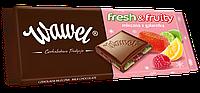 Шоколад Wawel  Fresh & Fruity молочный с разноцветными фруктами 100 г. Польша