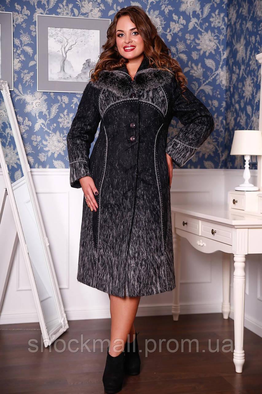 Пальто зимнее черное с мехом полубатал. 1 970 грн. Нет в наличии  Код  П-728  (н м) Тон 4 b4056f6303332