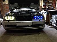 CCFL Ангельские глазки на BMW E36, E38, E39, Е46 (с линзой) Синие