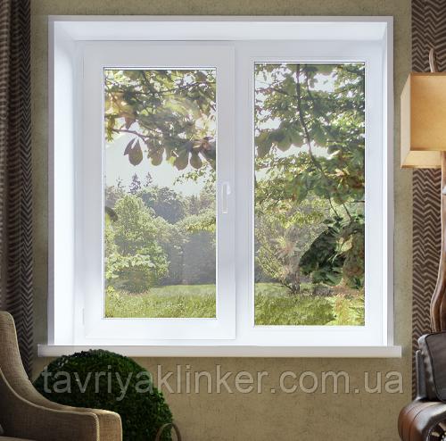 Двухчастное поворотно-откидное окно Лидер 3 кам 1300*1400