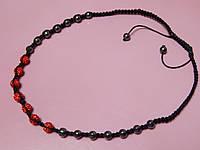 Ожерелье - бусы «Шамбала». Цвет красный