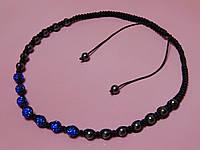 Ожерелье - бусы «Шамбала». Цвет синий