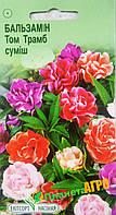 """Семена цветов Бальзамин садовый Том Трамб смесь, однолетнее 0,3 г, """" Елітсортнасіння"""",  Украина"""