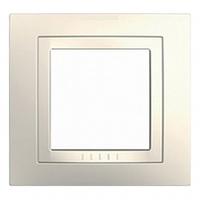 Рамка 1 пост Слоновая кость Schneider Electric Unica Basic