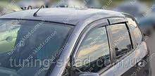 Вітровики вікон Хонда Джаз 2 (дефлектори бокових вікон Honda Jazz 2)