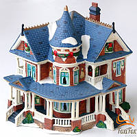 Фарфоровая композиция Новогодний домик с подстветкой