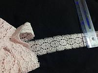 Кружево стрейч цвет нежно розовый 30 мм