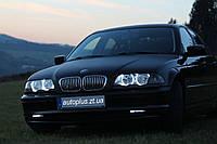CCFL Ангельские глазки на BMW Е46 (без линз)  Белые