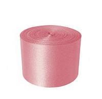 Атласная лента 5 см - цвет нежно-розовый