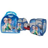 Домик палатка с туннелем для детей SG 7015 FZ-B Холодное сердце (Frozen), два входа, 270х92х92 см
