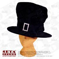 Шляпа цилиндр на прокат Лепрекон (шляпник) карнавальная. На день Святого Патрика