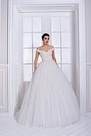 Милейшие свадебное платье А-силуэта с очаровательным корсетом