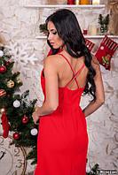 Женское платье с открытой спиной н-0707