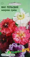 """Семена цветов Мак полевой махровая смесь, однолетнее 0,3 г, """" Елітсортнасіння"""",  Украина"""