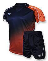 Футбольная форма Europaw 007 темносине-оранжевая