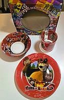 Детский набор посуды Маша и Медведь (3 предмета)