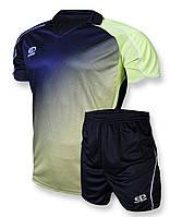 Футбольная форма Europaw 007 темносине-салатовая