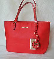 Брендовая женская сумка  Майкл Корс Красная
