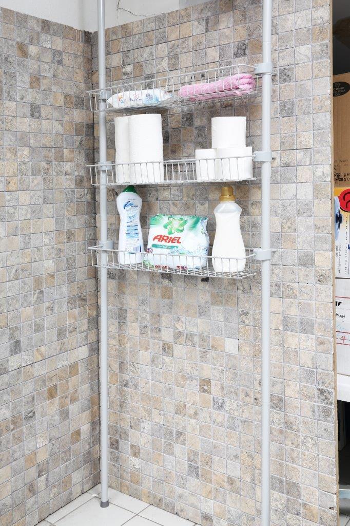 Полки для ванной с регулируемой высотой