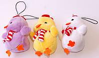 """Мягкая игрушка-брелок """"Цыпленок с шарфиком"""" (В наборе 12 шт.)"""