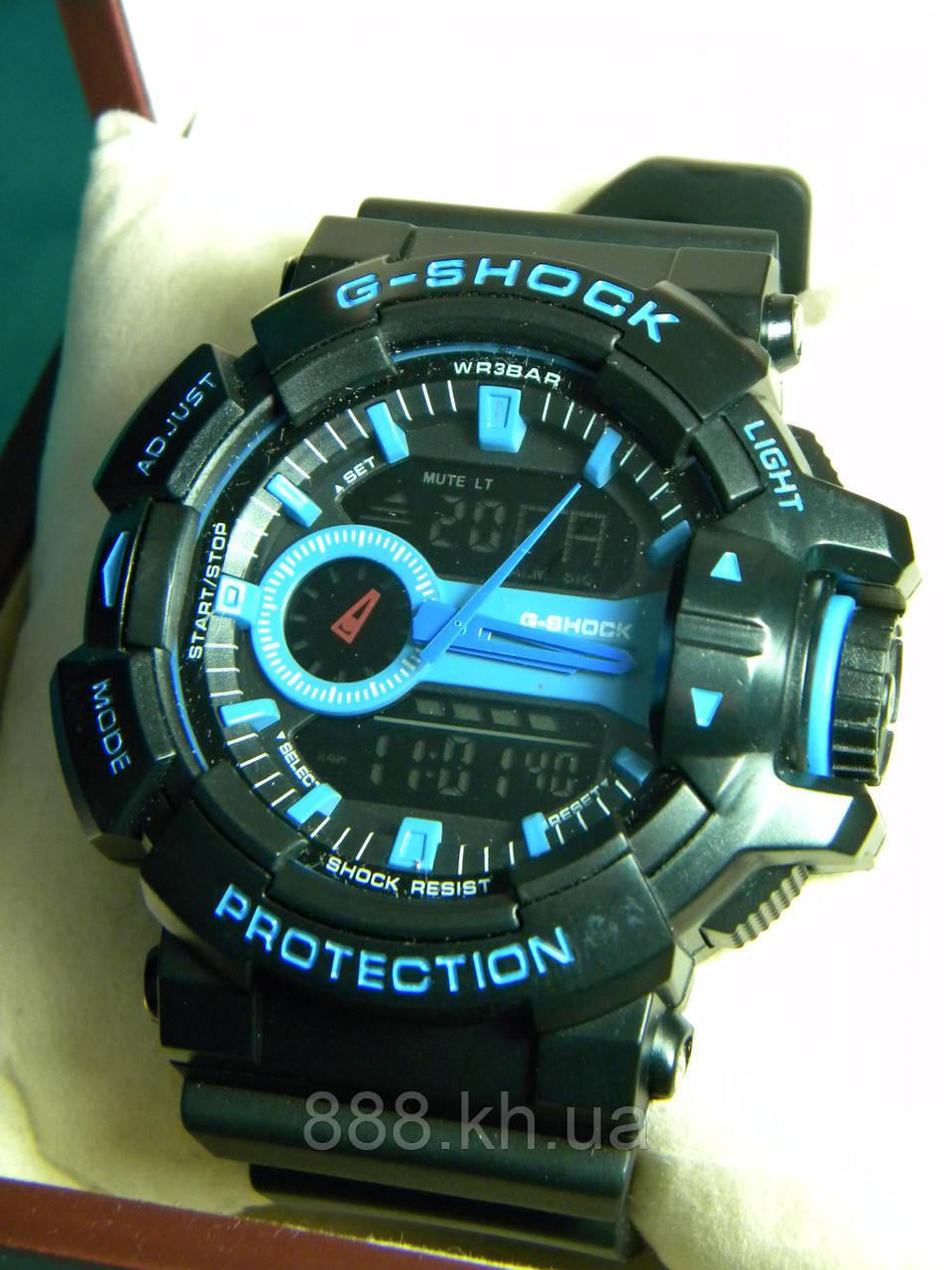 Часы мужские CASIO G-Shock ga 400 синий реплика