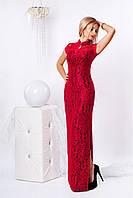 Стильное женское красивое платье из гипюра