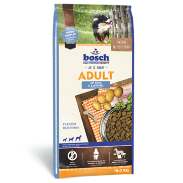 Bosch ADULT Fish & Potato 15 кг -корм для собак (рыба/картофель)