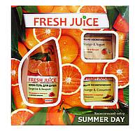 Косметический набор Fresh Juice Фруктовый уход за телом Summer Day (крем-гель для душа+мыло косметическое)