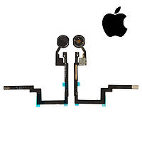 Шлейф для iPad Mini 3 Retina, кнопки home, с компонентами, черный, оригинал
