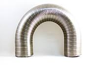 Гофрированный дымоход внутренний диаметр 100мм из нержавеющей стали. Гофра нержавеющая.