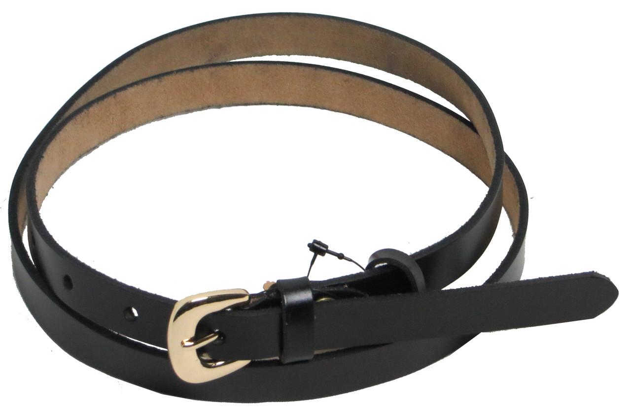 Женский узкий ремень-поясок FLX 5155 черный ДхШ: 105х1,5 см.