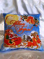 Новогодние подарки, сувениры, Подушка Двухстороняя