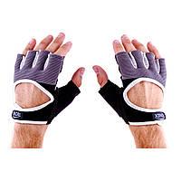 Перчатки для фитнеса черно-серые Ronex Nap Sweet Forway RX-01-GB